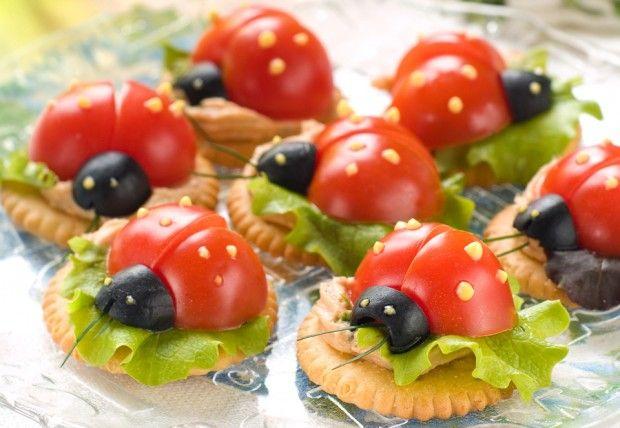 1000 ideias sobre aperitivos de joaninha no pinterest for Canapes simples e barato