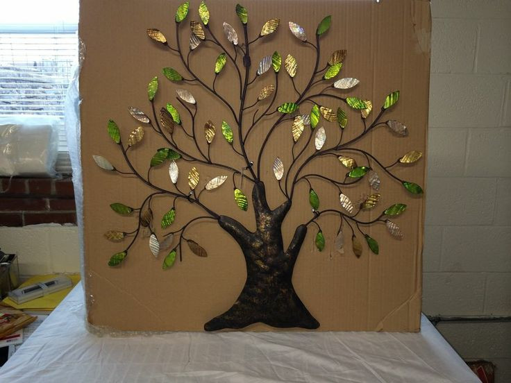 tree of life wall art decoration branch shells home tree. Black Bedroom Furniture Sets. Home Design Ideas
