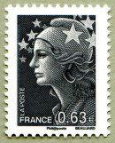 Marianne de Beaujard La Vème République au fil du timbre - Timbre de 2013