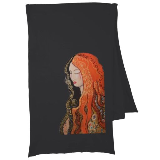 Jersey #Scarf  Ginger Lady Elegant Art Nouveau