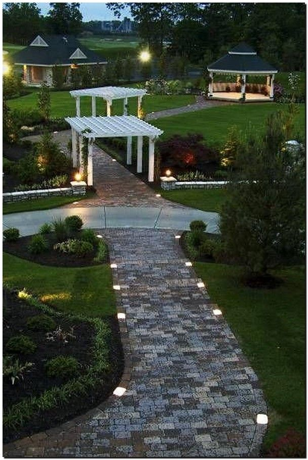 35 Beautiful Garden Backyard Lighting Ideas 32 Landscape Lighting Ideas Walkways Backyard Backyard Lighting