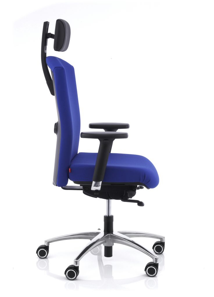 Luxury Anteo cobalt blue executive chair with headrest by Koehl Seating