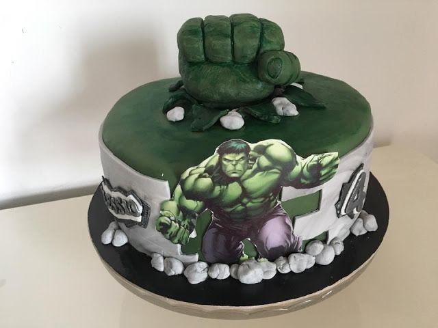 Cosa c'è per dolce?: La torta Hulk per i 4 anni di Alessio!