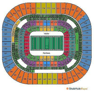 Carolina Panthers vs Tampa Bay Buccaneers Tickets 10 10 16 Charlotte E TIX | eBay