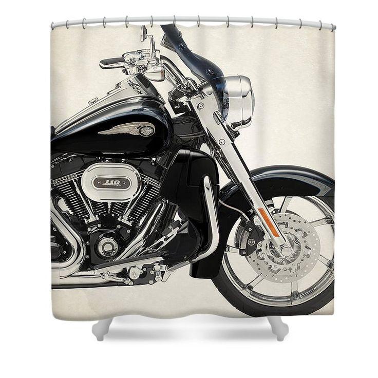 Harley Davidson Cvo Road King 2013b Shower Curtain For Sale By Stephanie  Hamilton