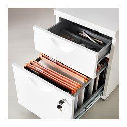 ERIK Drawer unit w 2 drawers on castors, white - 41x57 cm - IKEA