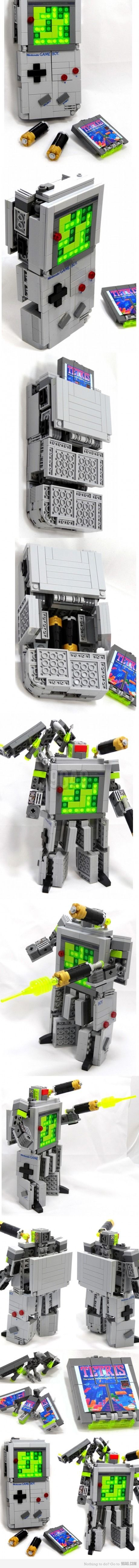 Gameboy Lego Transformer -- what I love, is that with it's tetris cartidge/bird and shoulder mounted cannon, it's basically Nintendo's Soundwave.