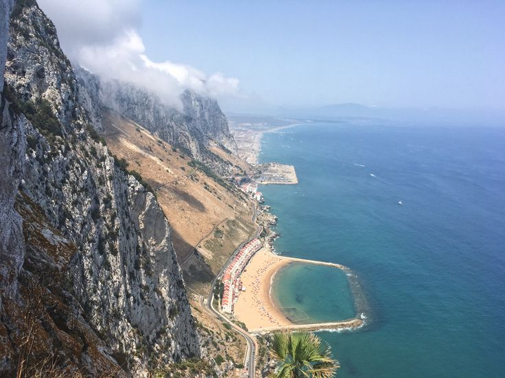 View from the Mediterranean Steps, The Rock of Gibraltar, Gibraltar, UK