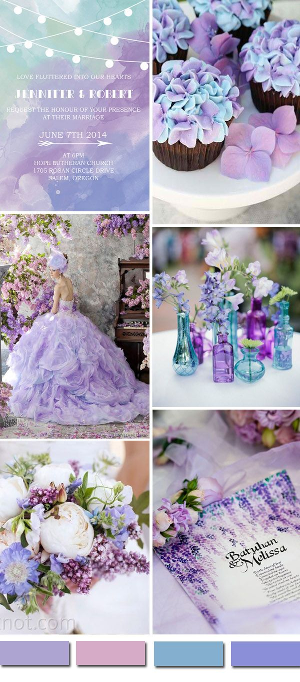 watercolor purple wedding ideas and watercolor purple wedding invitations