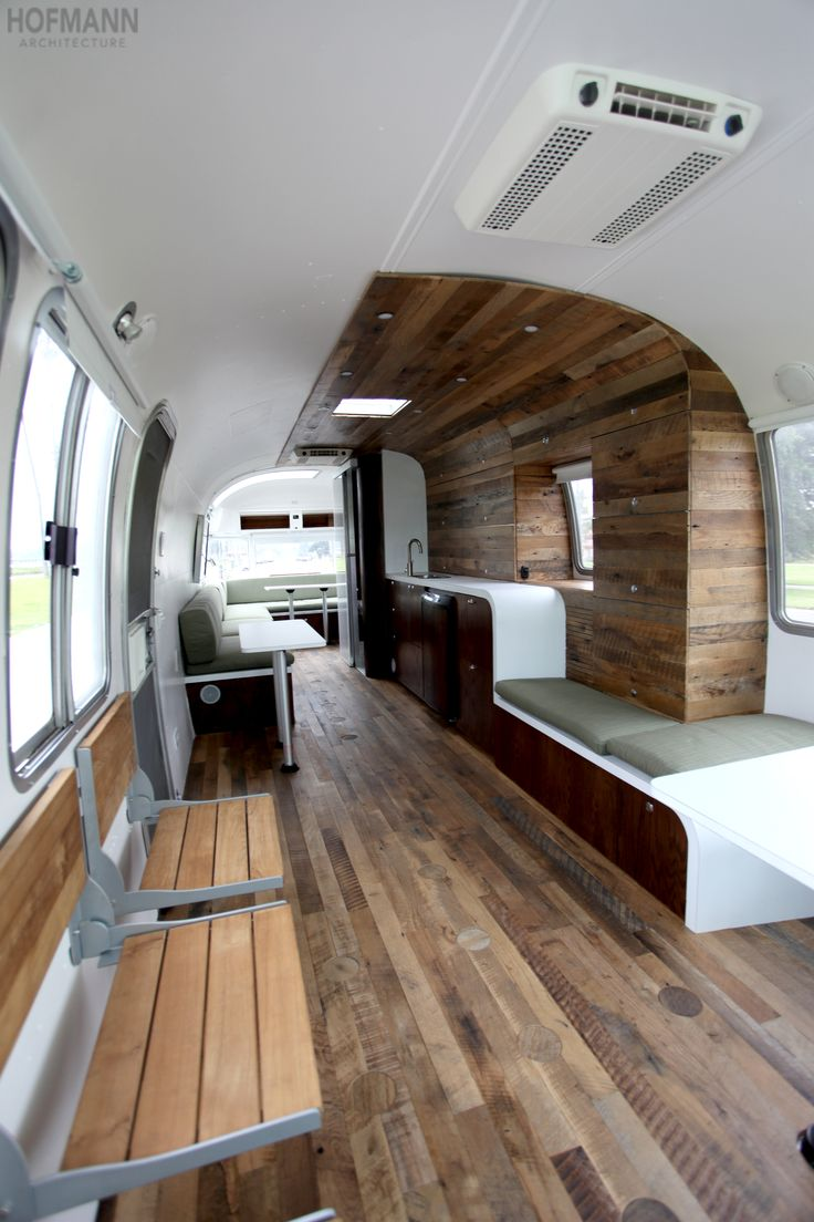 This contemporary yet comfortable mobile office is a Hofmann Architecture design!