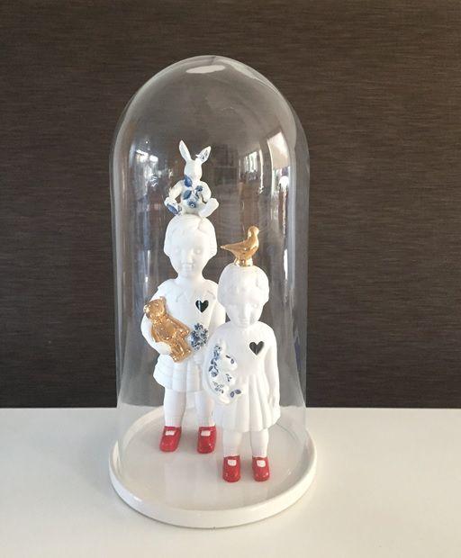 Porcelain Clonette dolls by Lammers en Lammers at Studio de Winkle.  #clonetteinacloche