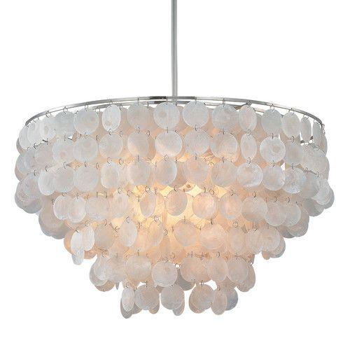 23 best capiz chandeliers images on pinterest light pendant nicollet capiz shell six light pendant 251 first other pendant lighting ceiling lighting mozeypictures Gallery