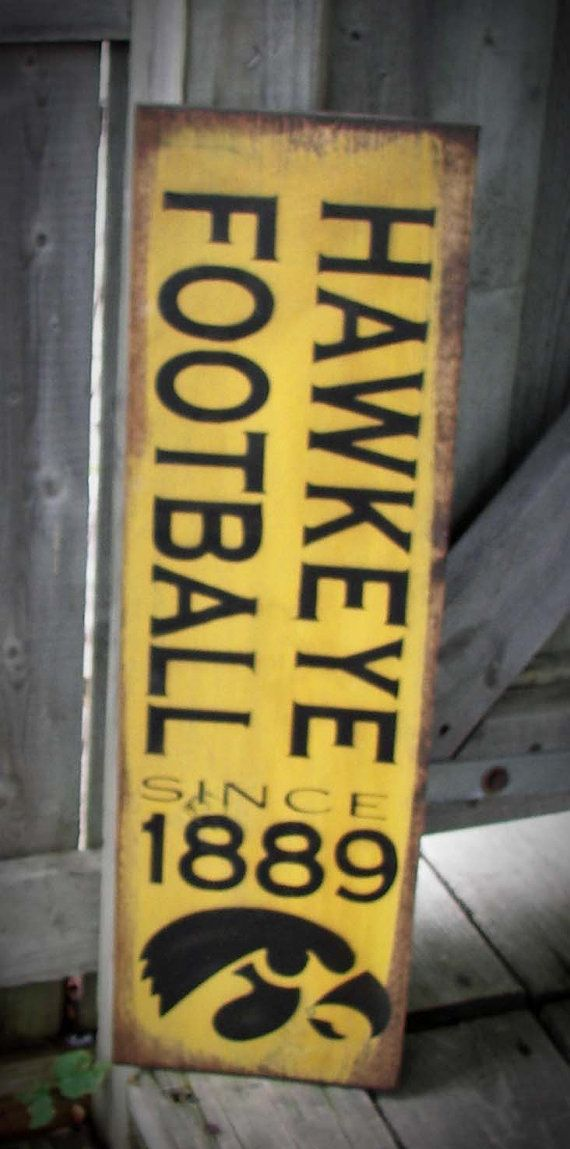 Iowa+Hawkeye+Football+Wood+Sign+by+HeartlandSigns+on+Etsy,+$20.95