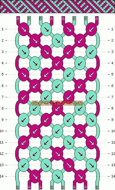 Friendship+Bracelet+Knot+Patterns | Patterns - Normal - Friendship Bracelet Pattern #4392