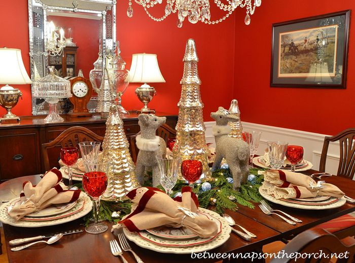 Christmas Table Setting Sparkle With A Touch Of Whimsy