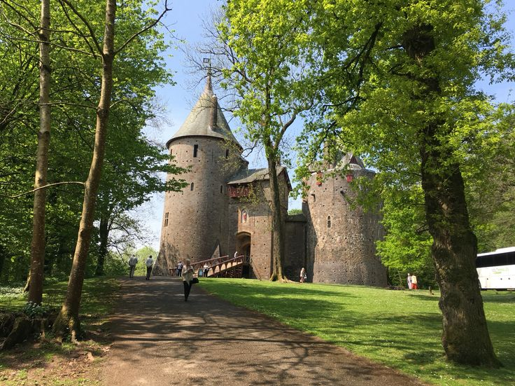 Castell Coch Newport Wales. One of CADW's amazing visitor sites.