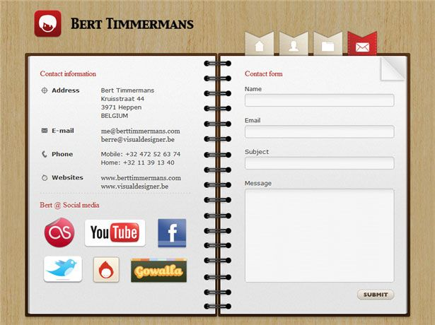 Beautiful Contact Forms for your Inspiration Contact form, Form - contact information form
