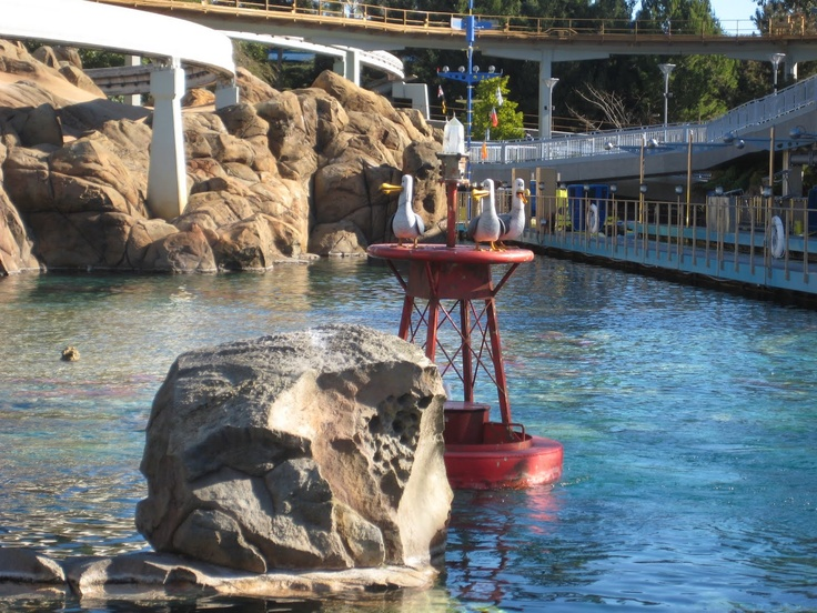 "In keeping with the Finding Nemo re-theme of the Submarine Voyage, the gulls squark with Australian accents - ""Mine, mine, mine!"""
