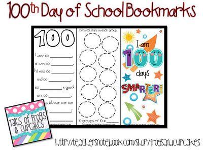 100th Day of School bookmarks: Teachersnotebook Com, Teacher Notebook, 100Th Day, Schools Ideas, 100Thday, Bookmarks Freebies, Free 100Th, Classroom Ideas, Schools Bookmarks