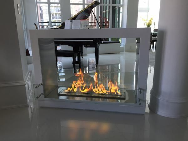 The Bio Flame Sek Xl 53 Free Standing See Through Ethanol Fireplace Ethanol Fireplace Freestanding Fireplace Fireplace Design