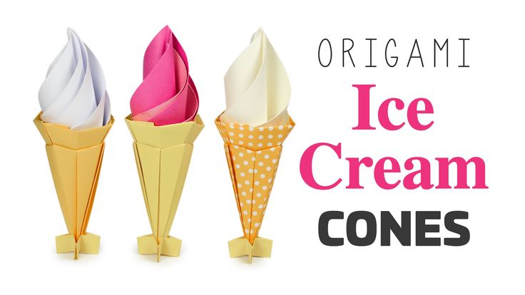Learn how to make an awesome origami ice cream cone! The cone is made from 2 sheets of square paper, the cream is 1 or 2 sheets ⬇OPEN ME ⬇ I hope you enjoy...