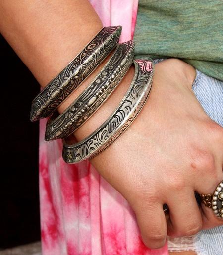 ♥Stacked Bracelets, Fashion Models, Jewelry Accessories, Gypsy Jewelry, Silver Bracelets, Sterling Silver, Fleas Marketing, Junk Gypsy, My Style
