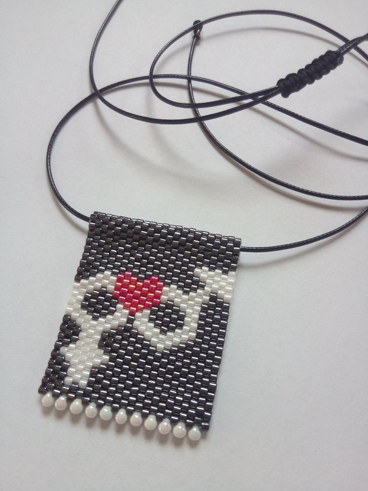 Male Female Symbol necklace, Grey Seed bead necklace, Love Pendant, Love necklace, Made in Greece, SouSou Necklace, Gifts for her by SouSouHandmadeArt on Etsy