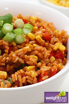 Mexican Rice. #HealthyRecipes #DietRecipes #WeightLoss #WeightlossRecipes weightloss.com.au
