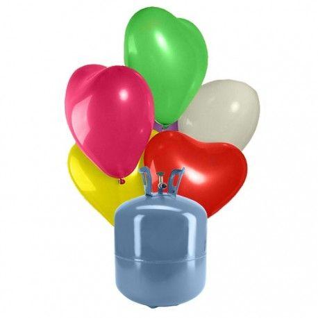 La bombona que servimos en este pack tiene una capacidad de 0,25 m3 de helio en su interior. Esto es una cantidad de gas suficiente como para llenar los 30 globos de corazón que vienen servidos con el pack.  El tamaño de estos sensacionales globos es de 25 cm de alto, por lo que la decoración sera muy llamativa.  Con los colores disponibles para los globos de corazón podrás decorar al gusto de todos y en infinidad de celebraciones, ya que el corazón es un símbolo de paz, amor y amistad.