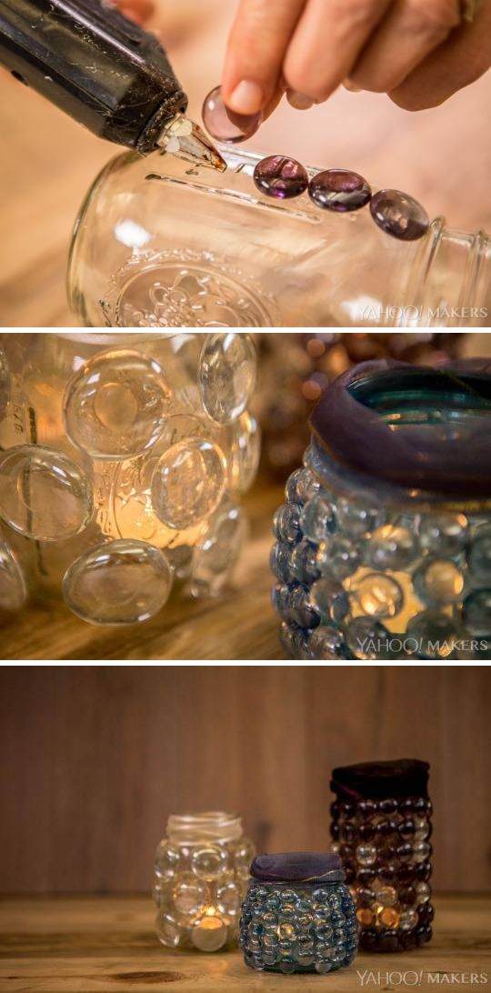 Mason Jars 3 Craft Item Gorgeous Votive Candles Diy