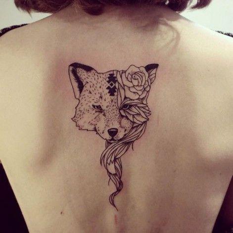 renard sur le dos