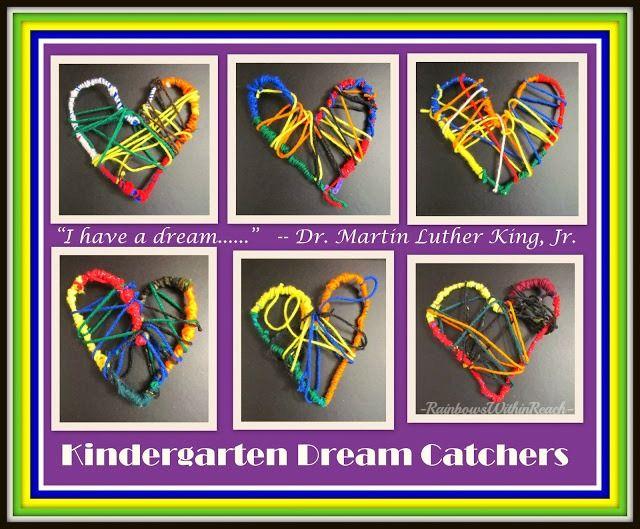 MLK--Kindergarten Heart Weavings. Step by Step directions.