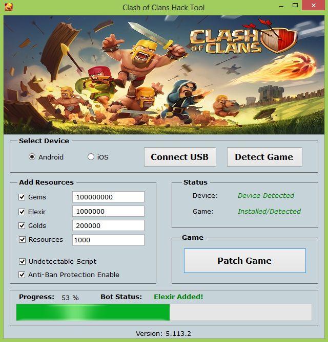 Clash of Clans Hack with No Survey