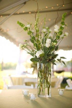 171 Best Images About Wedding Floral Arrangements On Pinterest White Flowers Tall Centerpiece
