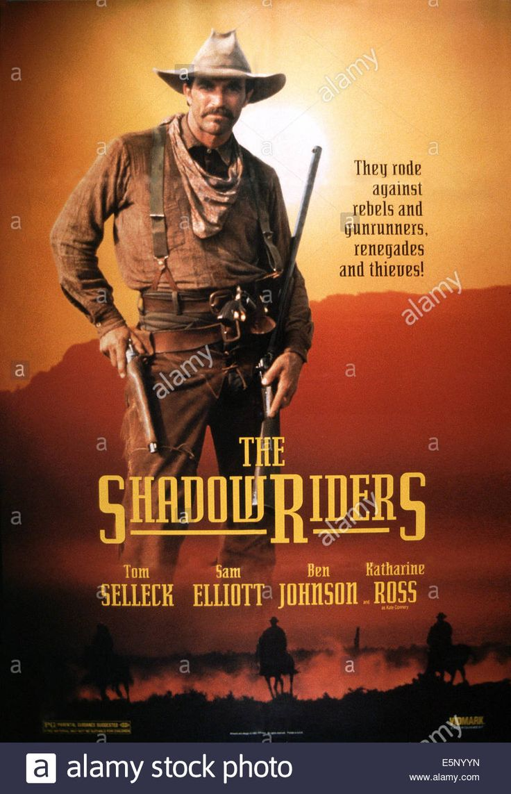 Download this stock image: THE SHADOW RIDERS, US poster, Tom Selleck, 1982, © CBS/courtesy Everett Collection - E5NYYN from Alamy's library of millions of high resolution stock photos, illustrations and vectors.