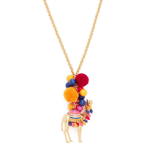 Kate Spade New York Spice Things Up Camel Pendant Necklace ($160) ❤ liked on Polyvore featuring jewelry, necklaces, multi, kate spade jewelry, beading jewelry, bead pendant, camel necklace and adjustable necklace