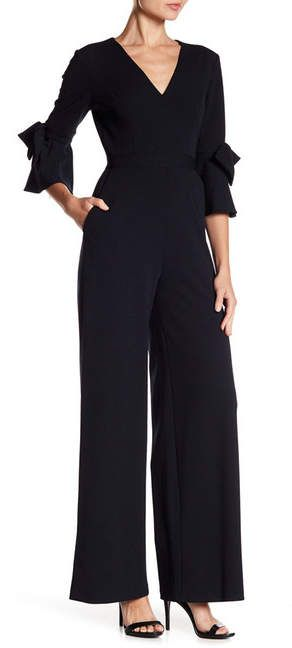 c43d7a4df5b11 Donna Morgan   Bow Detail Bell Sleeve Jumpsuit   Everything ...