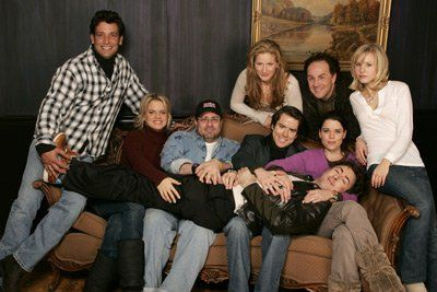 Neve Campbell, Alan Cumming, Kristen Bell, Christian Campbell, Andy Fickman, Ana Gasteyer, Robert Torti and Amy Spanger at event of Reefer Madness: The Movie Musical (2005)