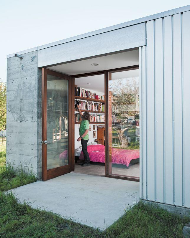 timber and glass doors