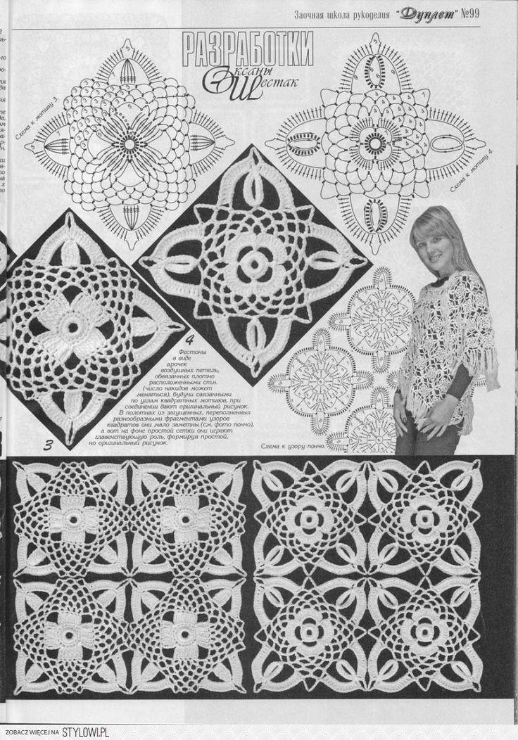 Las mejores +1000 imágenes de Patrones de crochet en Pinterest ...