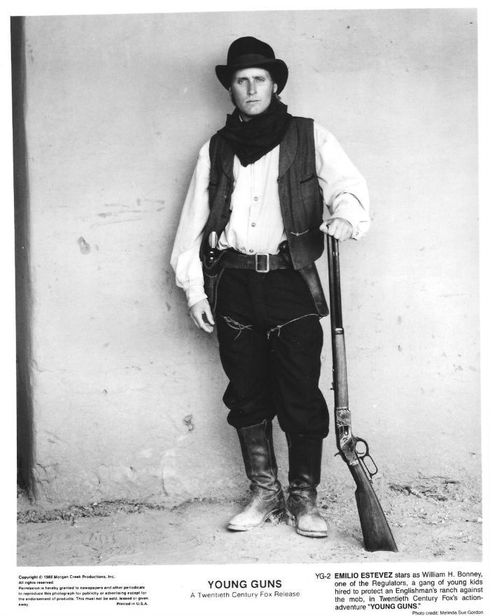 Emilio Estevez Young Guns Billy The Kid | Billy The Kid ...