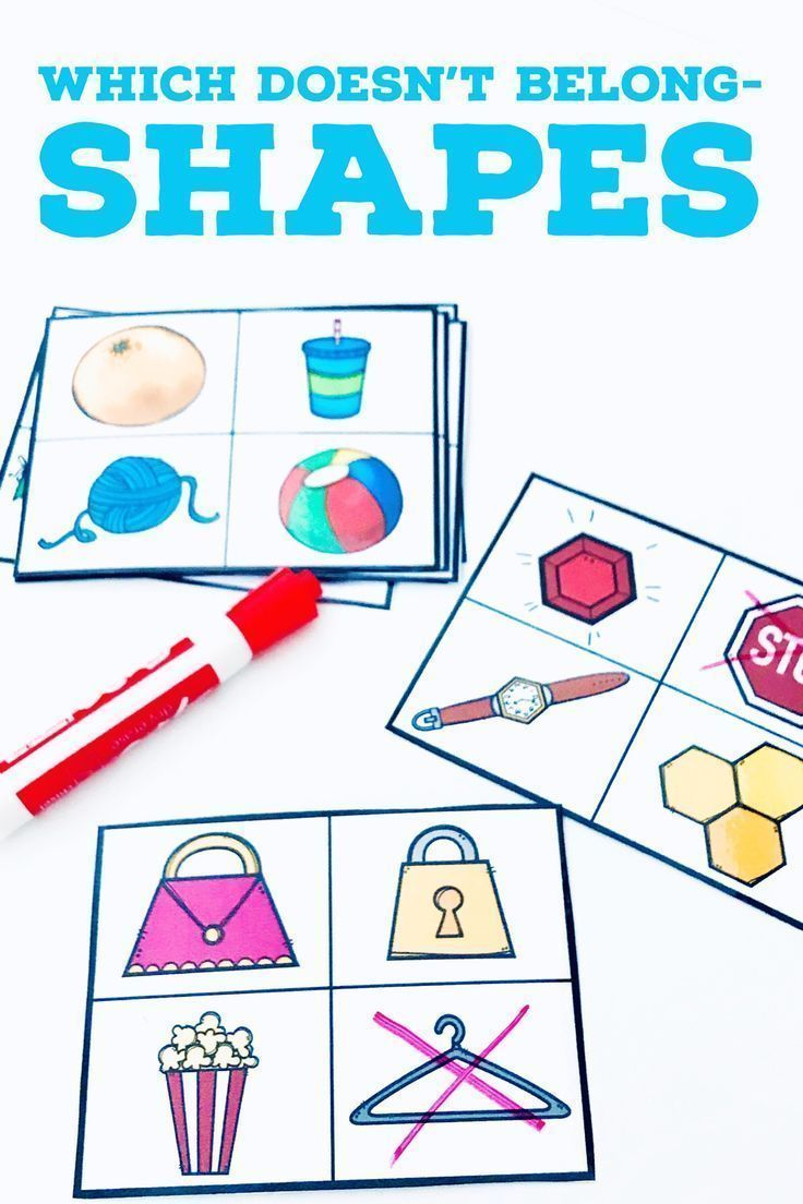 FREE Which Doesn't Belong Shapes task cards are a great way for kindergarten or first grade students to visually discriminate which real world shapes. Includes both 3-d and 2-d shapes are a great way to encourage math discourse in the classroom by encouraging students to explain their thinking.
