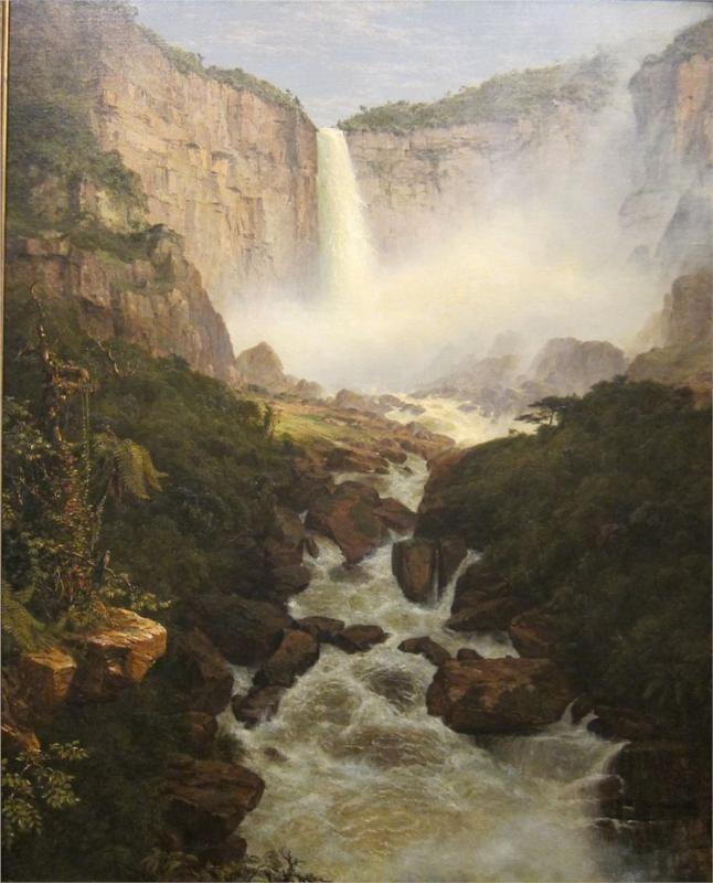 Tequendama Falls, Near Bogota, New Granada - Frederic Edwin Church