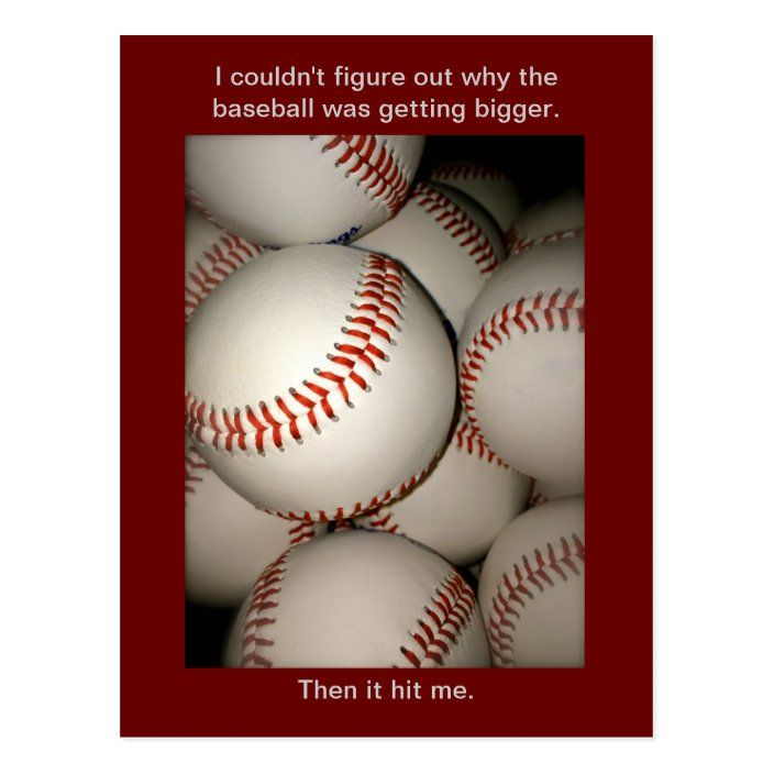 Funny Baseball Postcard Puns Postcrossing Sports Postcard Zazzle Com Baseball Humor Funny Sports Pictures Puns