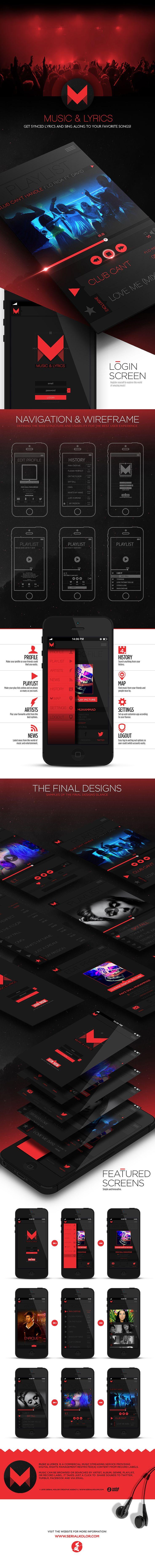 music & lyrics is the conceptual ui/app design