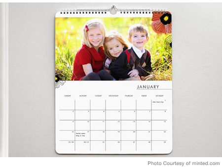 photo calendar as gifts for the great-grandparents