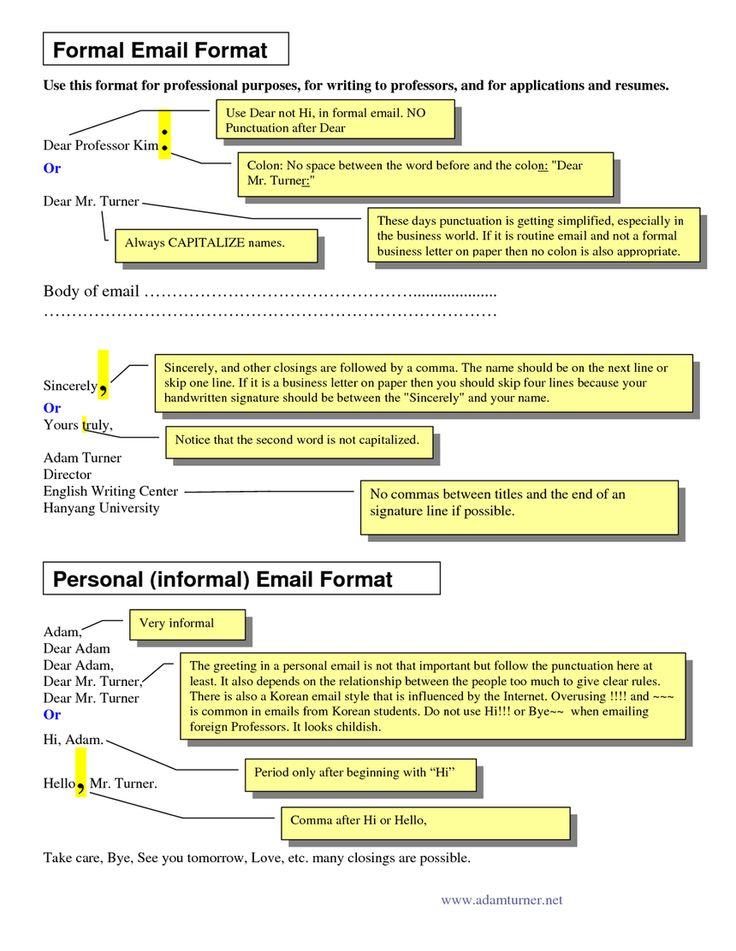 Formal email format image courtesy of docstop.com