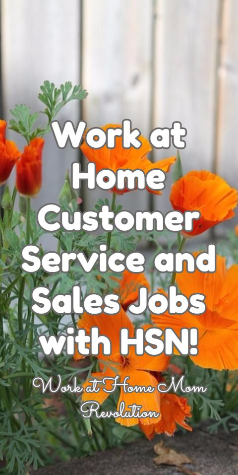 Work at Home Customer Service and Sales Jobs with HSN! / Work at Home Mom Revolution