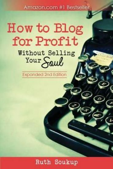 How To Blog For Profit: Without Selling Your Soul by Ruth Soukup. Do you want to earn a living doing what you love? Whether you have been blogging for years or just a few weeks, How to Blog For Profit (Without Selling Your Soul) offers solid advice and practical action plans for creating an authentic, successful, profitable blog. With wit, wisdom, and the insight of someone who's been there, Soukup shares how she grew her own blog, Living Well Spending Less, to over 1 million monthly…