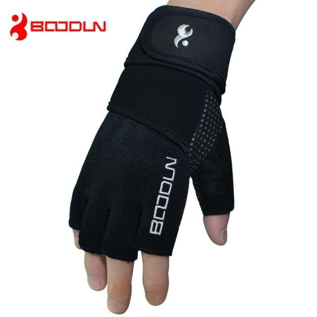 Wrist Wrap Training Crossfit Gloves Gym Fitness Exercise Body Building Dumbbell Gloves Weight Lifting Half Finger Gloves